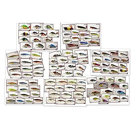 Image of Spoons Akuna Bulk Pack with Fishing Lures, 112 Crank Baits, Spoons and Spinner Baits