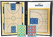 Basketball Coaching Board, Colorful Folding PU Leather Basketball Teaching Board Waterproof Anti-Skid Magnetic