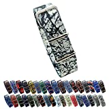 HNS Watch Straps -Choice of Pattern & Width (18mm, 20mm, 22mm) - Ballistic Nylon Straps (20mm, Graffiti)