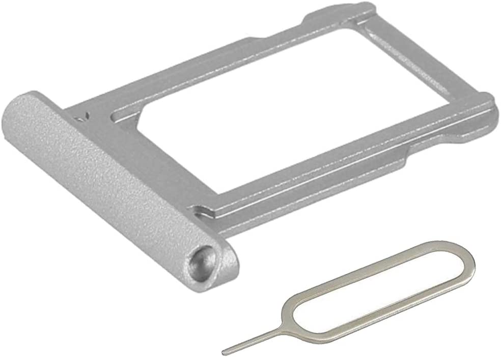 MMOBIEL SIM Card Tray Holder Slot Replacement Compatible with iPad Pro 12.9 inch 2nd gen 2017 (Silver) incl. Sim Pin