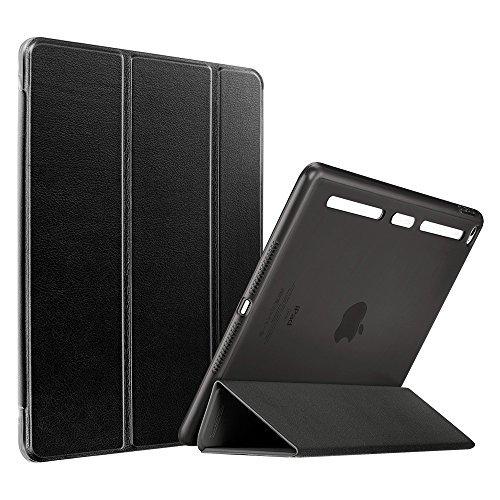 ESR iPad Pro 12.9 inch Case, Soft TPU Bumper Edge Slim Fit Smart Case Cover with Auto Sleep/Wake for Apple iPad Pro/ iPad 7th Generation 12.9 inches (2015 Edition)_Black