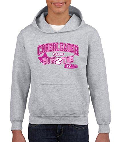 Cheerleader Bow 2 Toe Cheerleading Song Cheerleader Costume Bows Youth Hoodie Hooded Sweatshirt