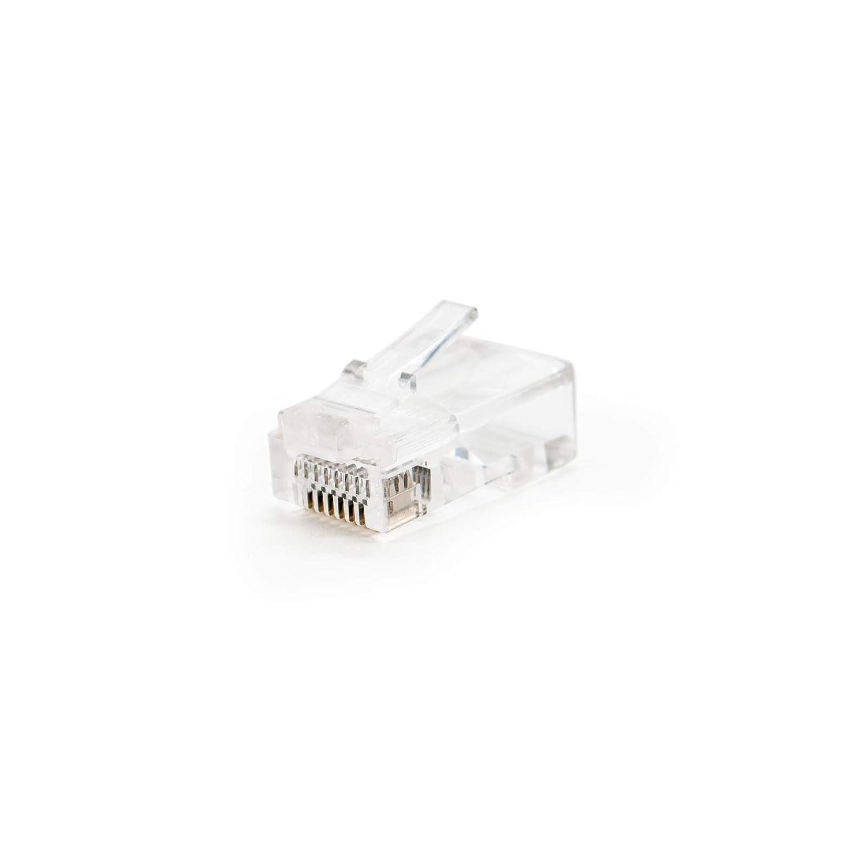 NANOCABLE 10.21.0102-100 Bolsa de 100 Unidades Conector para Cable de Red Ethernet RJ45 8 Hilos Cat.5e UTP