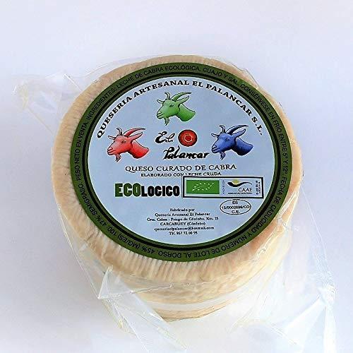 Queso Artesano de Cabra Curado Ecológico de Leche Cruda EL PALANCAR 850-950 g, elaborado en el Parque Natural de las Sierras Subbéticas de Córdoba: ...