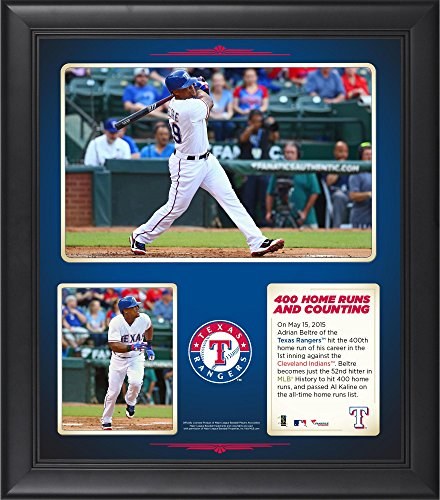 "Adrian Beltre Texas Rangers Framed 15"" x 17"" 400 Home Runs Collage - Fanatics Authentic Certified - MLB Player Plaques and Collages"