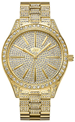 JBW Women's Luxury Cristal 0.12 ctw Diamond 18k Gold-Plated Stainless-Steel Analog Watch J6346A