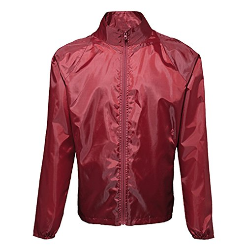 para hombre 2786 abrigo Duffle Chaqueta Burdeos de qwII7f6