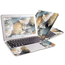 "Mightyskins Protective Skin Decal Cover for Apple MacBook Air 13"" with 13.3 inch screen wrap sticker skins Kittens"