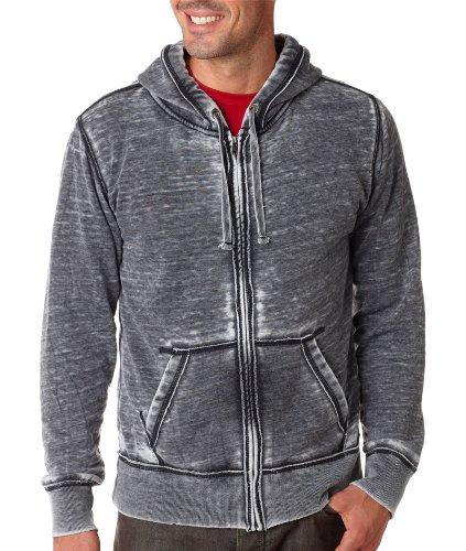 J. America Men's Zen Full Zip Hooded Sweatshirt