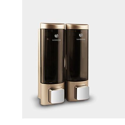 Dispensador universal de jabón líquido para baño Dispensador de ducha eléctrico de 2 cámaras para público