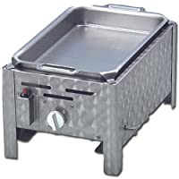 Tischbräter silber klein Tableroaster 1-flammig Balkon ✔ eckig ✔ Grillen mit Gas ✔ für den Tisch