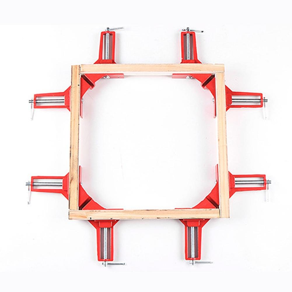 4PCS 90/° Right Angle Degree Corner Capacity Clamp DIY Glass Aquarium Quick Fixing Picture Frame Clip Woodworking Photo Frame Clip