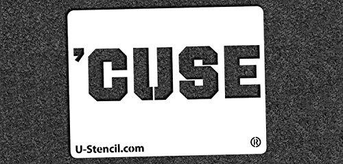 NCAA Syracuse Orange 04673 Mini Stencil Craft Kit 11 x 14.5 inches by U-Stencil