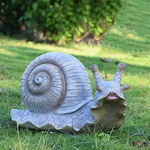 樹脂ドロマイトタートルカタツムリの庭の彫像、屋内屋外庭の装飾、パティオ&庭B 40x18x23cmの芝生装飾彫刻