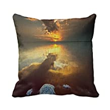 Home Decorative Square Custom Throw Pillow Cover Custom Theme Nature Simple Theme Nature Wonderful 20 X 20Inches Cotton Linen Comfortable Throw Pillowcase
