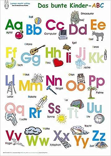 Das Bunte Kinder Abc Poster Deutsch Amazon De Helga Momm Zach
