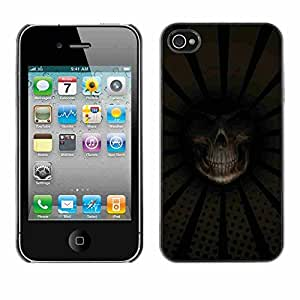 Shell-Star ( Grim Reaper Death Close Up ) Fundas Cover Cubre Hard Case Cover para Apple iPhone 4 / 4S