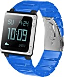 iWatchz Kube Link Band with iWatchz Clip, Clear Blue