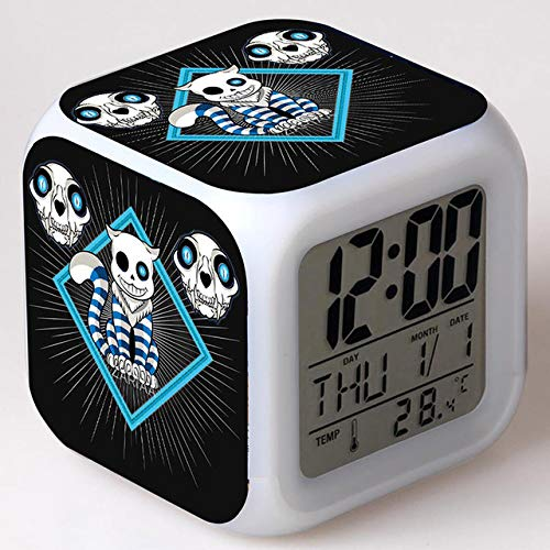 VIZIKS Undertale Game Anime Figurine Led Alarm Clock Colorful Undertale Model Action & Toy Figures Collection -Multicolor Complete Series Merchandise