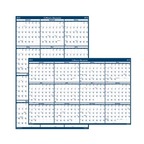 House of Doolittle 2019 Laminated Wall Calendar, Reversible, Horizontal/Vertical, 18 x 24 Inches, January - December (HOD3960-19)