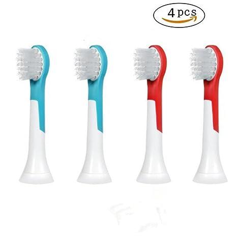 Cabezales de cepillo de dientes de repuesto compatibles con Philips Sonicare para niños Mini HX6034,