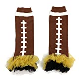 GEORGIA TECH YELLOW JACKETS - Tutu Chiffon Ruffle Leg Warmers - AMERICAN FOOTBALL (TOUCH DOWN) - ''BubuBibi''