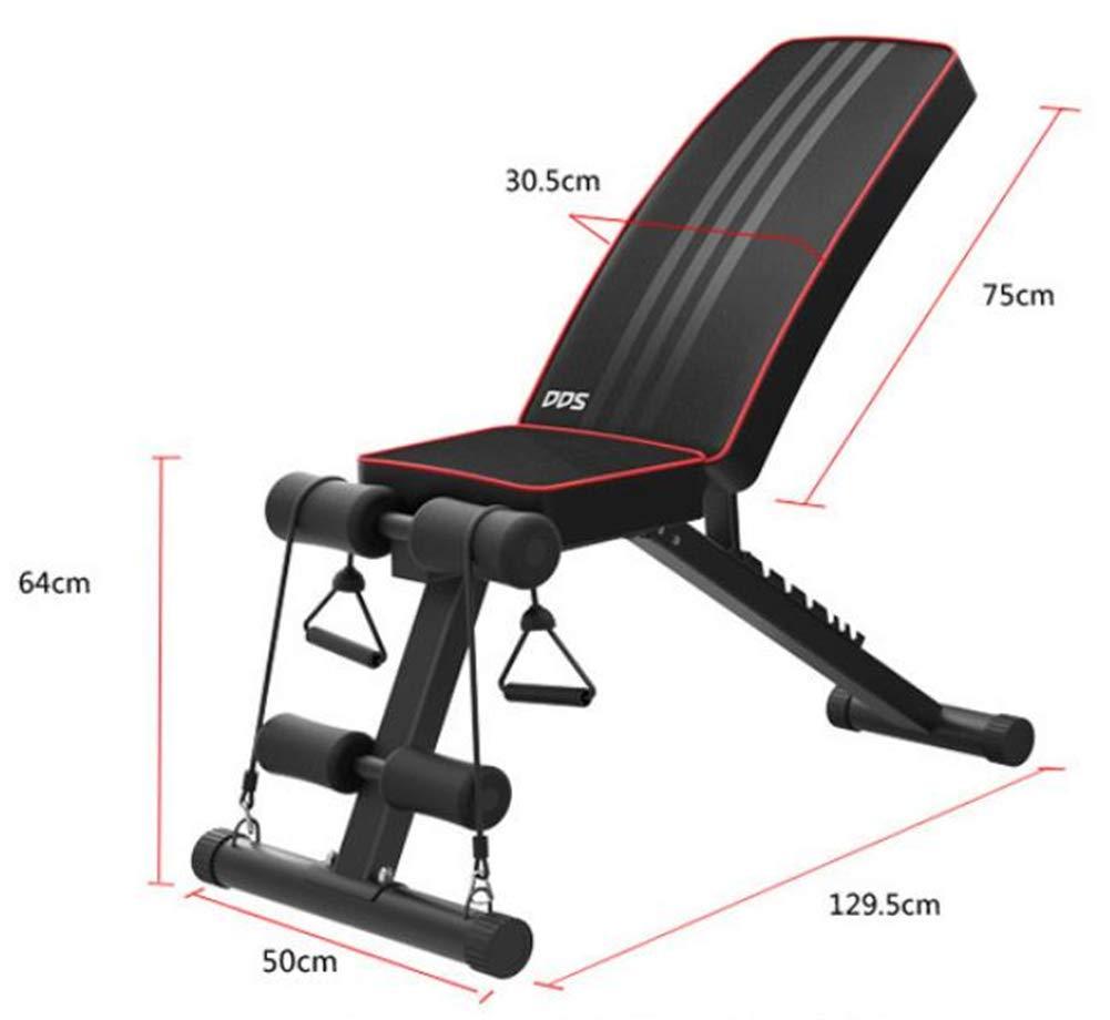 Lcyy-Abs Setzen Sie Sich Ab Bank Multifunktionale Haus Falten Bauchmuskeln Training 7 Ebenen Anpassung Mit Ziehen Seil Unisex