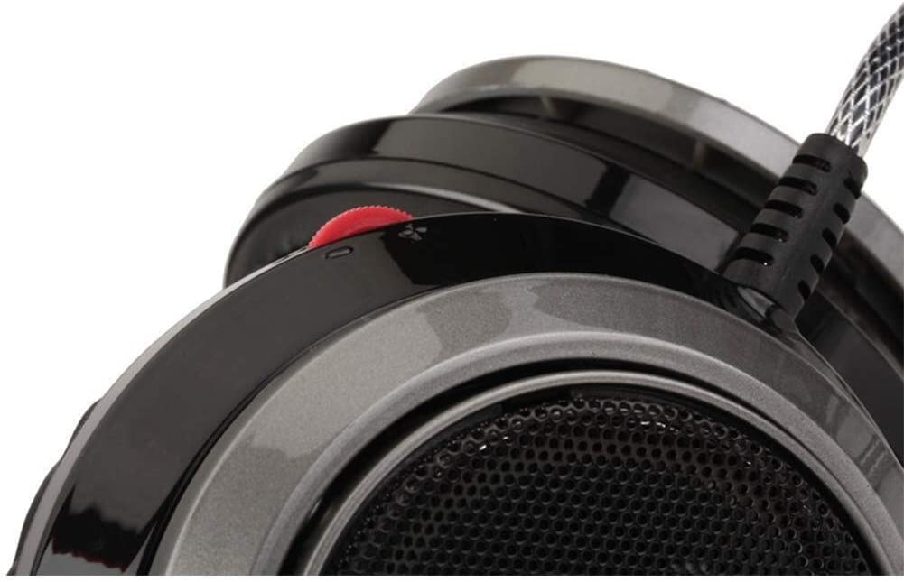 RENKUNDE Black Wired Gaming Headset with Soft Touch and Soft soundproofing Gaming Headset