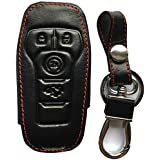 RPKEY Leather Keyless Entry Remote Control Key Fob Cover Case protector For 2015 2016 2017 Ford Edge Explorer F-150 Fusion Mustang Lincoln MKX MKC M3N-A2C31243300 164R8119 164-R7989