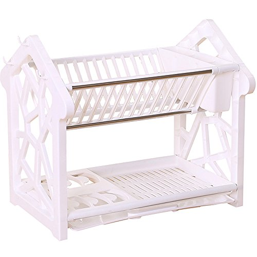 Dish Drainers,AIYoo 2 Tier Dish Rack with Drainboard Kitchen