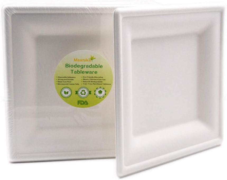 Desechable Eco-Friendly biodegradable bagasse vajilla Sugarcane ...