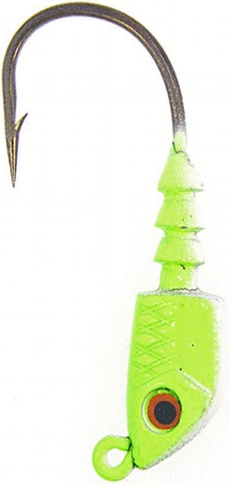 Bass Assassin Jighead 1//8Oz Chartreuse Flash 18 Per Pack