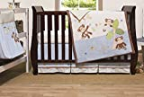 Little Haven Go Bananas Organic 4-Piece Crib Bedding Set