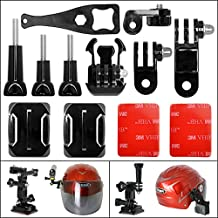 Fantaseal® 12-in-1 Action Camera Helmet Side Mount Kit Adhesive Mount for GoPro Helmet Mount for SONY FDR X-3000V X1000VR HDR AS 300 AS-10 AS-15 AS-20 AS-30 AS-50 AS-100 AS-200 AZ-1 GoPro Hero 5 / 4/3+/3/ Session / SJCAM SJ4000 SJ5000 / / Garmin Virb XE / Xiaomi Yi / DBPOWER QUMOX etc GoPro-Like Action Cam + Nikon Canon Sony Pentax Olympus Panasonics Lumix Ricoh Kodak Casio etc Waterproof Camera