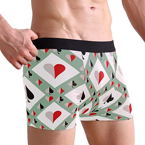 Wintreati Mens Boxer Briefs, Poker, Soft Breathable Stretch Low Rise Trunks Briefs Underwear Men Boys (Poker Boxers)