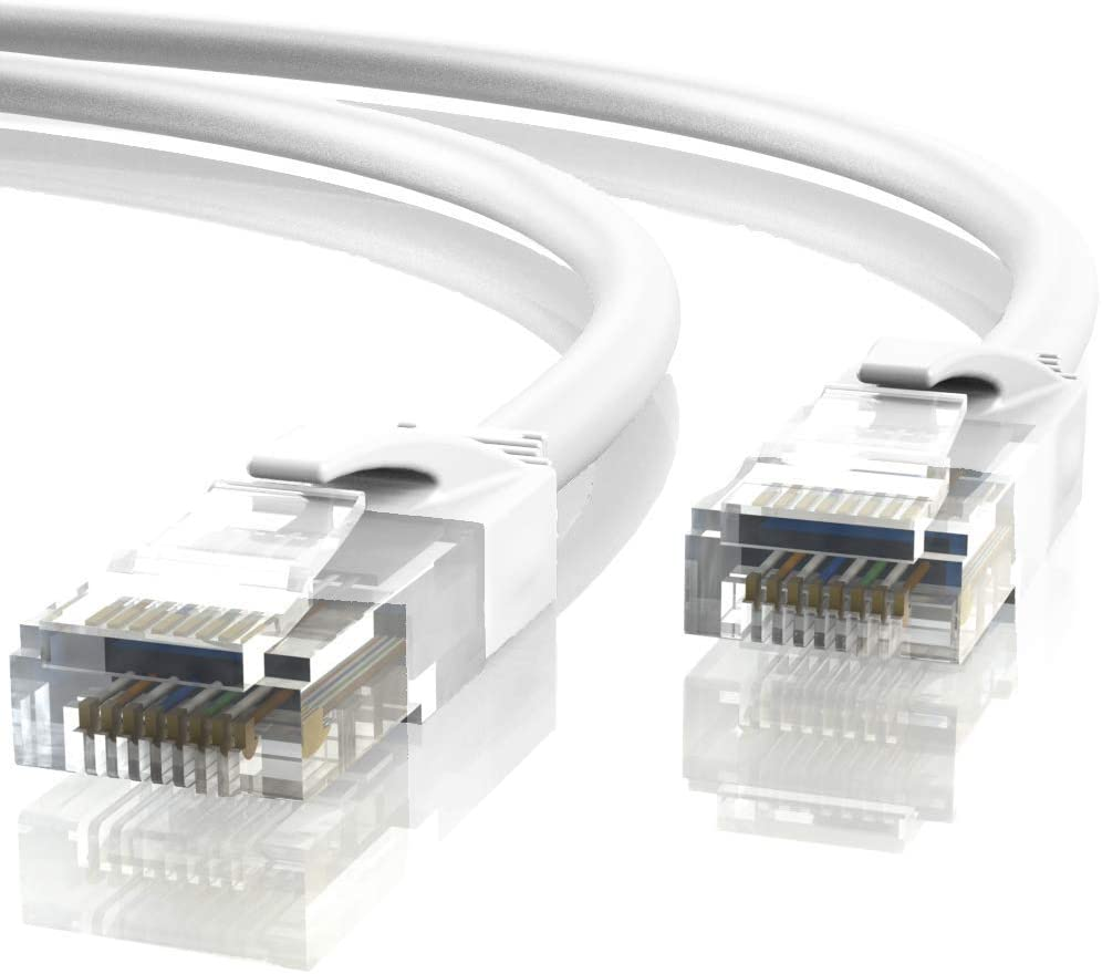 Mr. Tronic 10m Cable de Red Ethernet Latiguillo | CAT6, AWG24, CCA, UTP, RJ45 (10 Metros, Blanco)