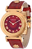 "Versace Women's P5Q80D800  S800 ""Vanity"" Rose Gold Ion-Plated Stainless Steel Watch with Leather Band"