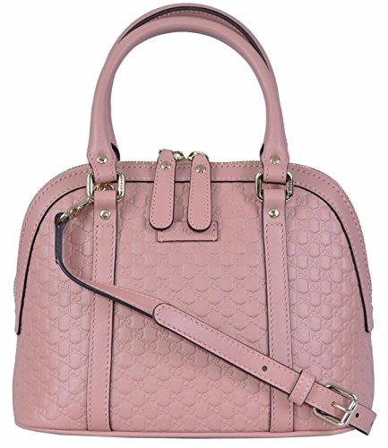Gucci Women's Micro GG Soft Pink Leather Convertible Mini Dome Purse