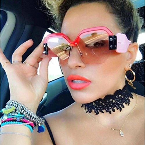 DDLbiz Women Fashion Vintage Sunglasses Retro Big Frame UV400 Eyewear Party Hit (C)