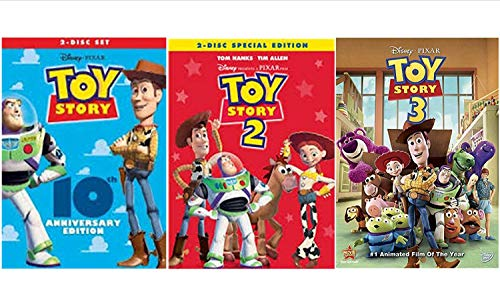 Black Series Toy Story Trilogy DVD Movie The Complete Collection 1, 2, 3 All 3 - Toy Pack 2