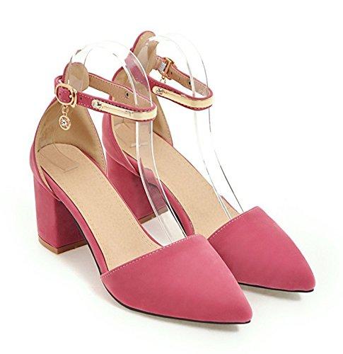 Zapatos De Tacón Alto Con Hebilla Elegante Para Mujer De Aisun Zapatos De Tacón Con Sandalias Cerrado De Dorsay Con Tiras De Tobillo Rojo