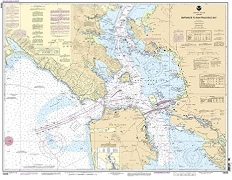 Amazoncom 18649 Entrance To San Francisco Bay Fishing Charts