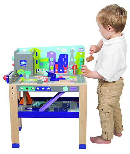 Boikido Wooden 2-in-1 Workbench Build & Drive (2 Station Workbench)