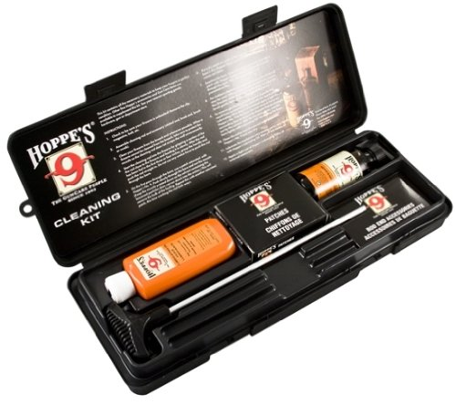 Pistol Kit (Hoppe's No. 9 Cleaning Kit with Aluminum Rod, .38/.357 Caliber, 9mm Pistol)
