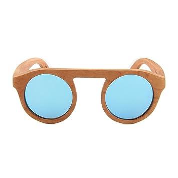 CoFash 2017 handcraft las gafas de sol polarizadas bambú Marco de madera lentes redondas mujeres o