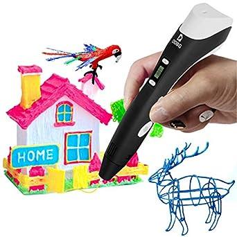 Amazon.com: kimitech 3d pen niño seguro 3d Doodle bolígrafo ...
