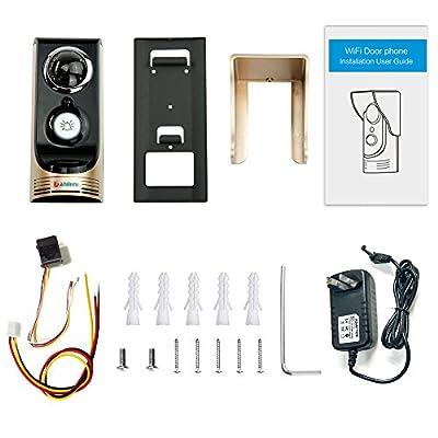 Wireless WIFI Video Doorbell Full HD Waterproof Remote Video Remote Talkback Remote Unlocking Phone Doorbell Intercom Night Vision Doorbell Golden