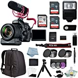 Canon EOS Rebel 80D Digital SLR Camera Video Creator Kit with EF-S 18-135mm USM Lens + Canon CarePak PLUS 13 Month Protection + Advanced Accessory Bundle - Including EVERYTHING You Need To Get Started