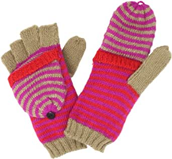 Jessica Simpson Women's Multi Stripe Pop Top Glove, Pink, One Size