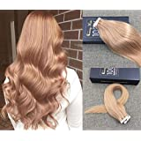 """Sunny 22"""" Ash Blonde #24 Silk Straight PU Skin WeftRemy(Remi) Tape in Human Hair Extensions 20 Pieces 50gram Weight"""